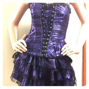 Two piece fashion corset and skirt